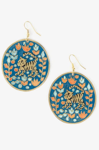 Jungle Jam Earrings in Blue by Mata Traders