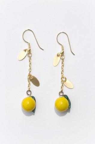 Limonata Earrings in Yellow by Mata Traders