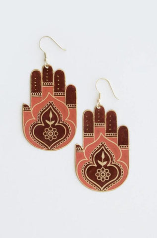 Peaceful Greetings Earrings by Mata Traders