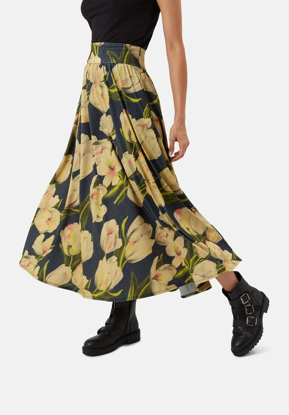 Dior Skirt in Metallic Floral by Traffic People
