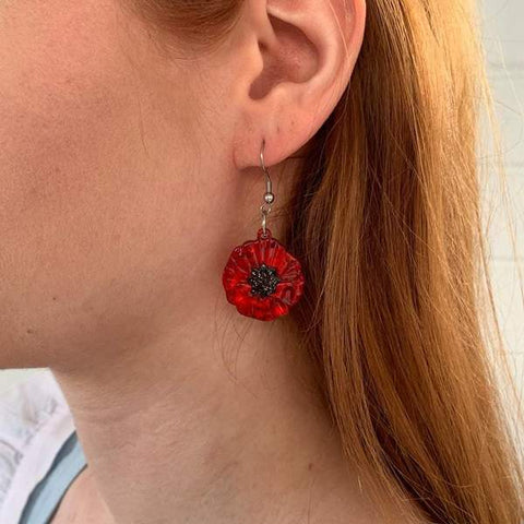 Poppy Field Drop Earrings by Erstwilder