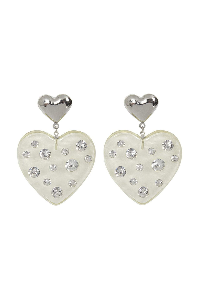 Faith Heart Earrings by Collectif