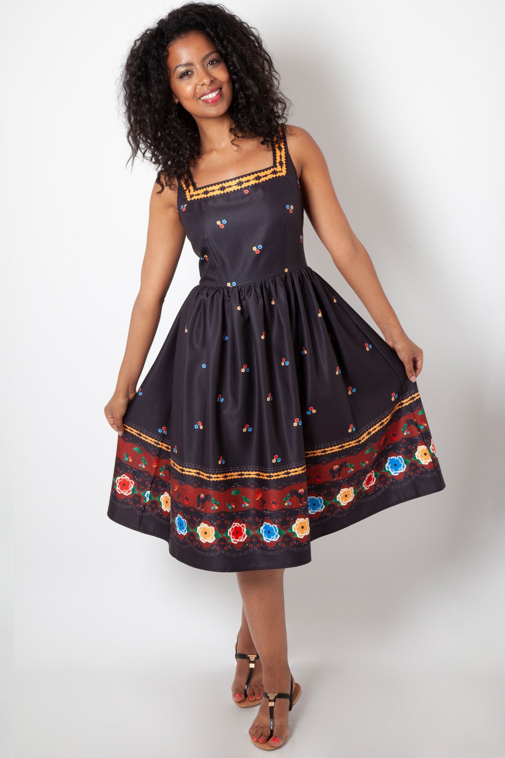 Fearne Fiesta Flared Dress by Voodoo Vixen