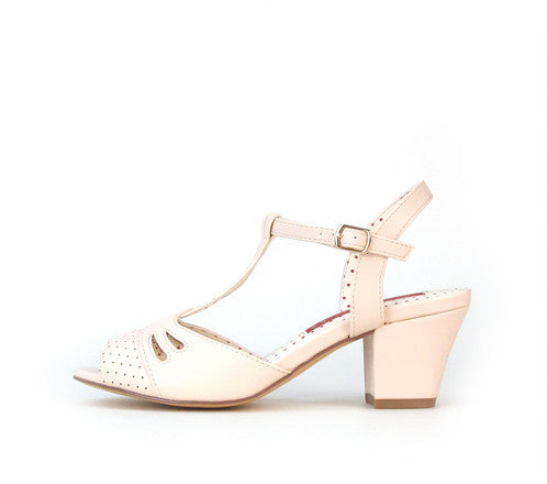 Reanna Peep Toe Heels in Blush By B.A.I.T.
