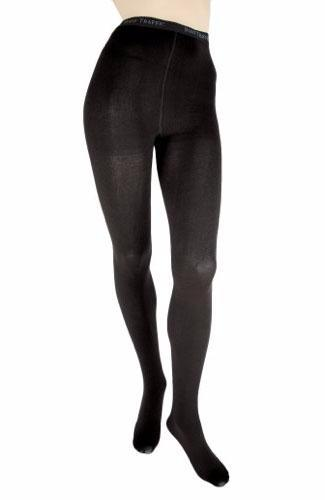 Foot Traffic Black Combed Cotton Tights Size Extra Large