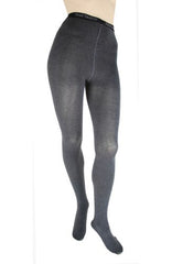 Foot Traffic Heather Graphite Combed Cotton Tights
