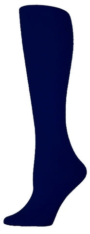 Foot Traffic Navy Microfiber Tights O/S and Plus