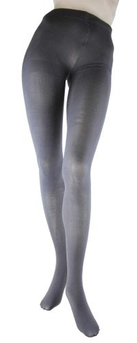 Foot Traffic Gray Microfiber Tights