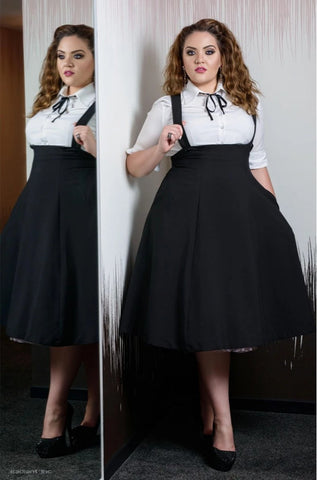 Jumper Circle Skirt in Black by Tatyana