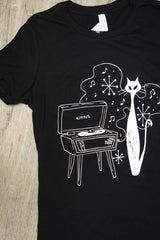 Hip Kitty T-Shirt in Black by Kittees