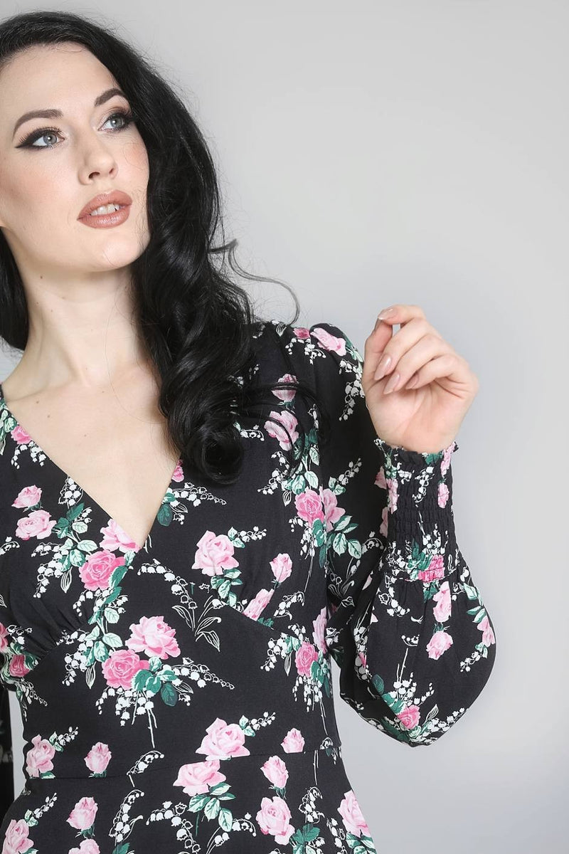 Felicia Floral Dress by Hell Bunny