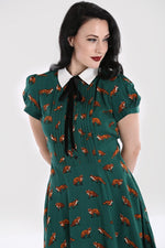Green Vixey Fox Dress by Hell Bunny