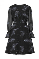 Twilight Bat Celestial Dress by Hell Bunny