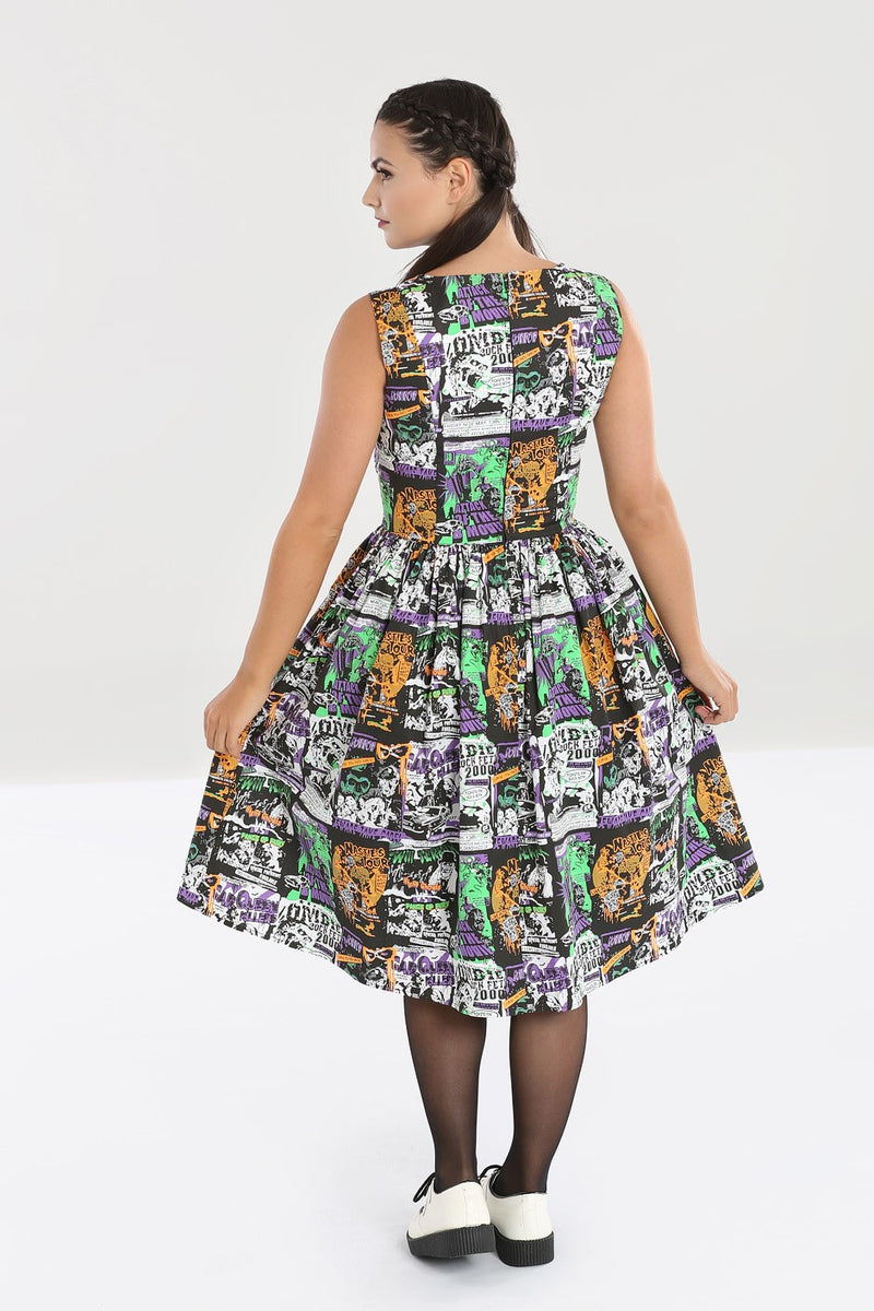 Be Afraid Horror Movie Dress by Hell Bunny