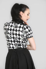 Hauntley Harlequin Bat Button Down Top