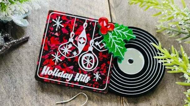 Holiday Hits Record Brooch by Poly Paige