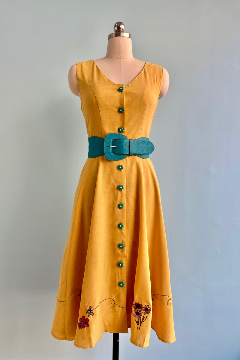 Honeybee Mustard Mallory Dress by Voodoo Vixen