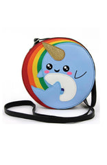 Rainbow Narwhal Crossbody Bag