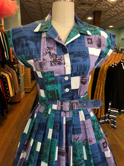 Connie Dress in Western Frontier Print by Retrospec'd