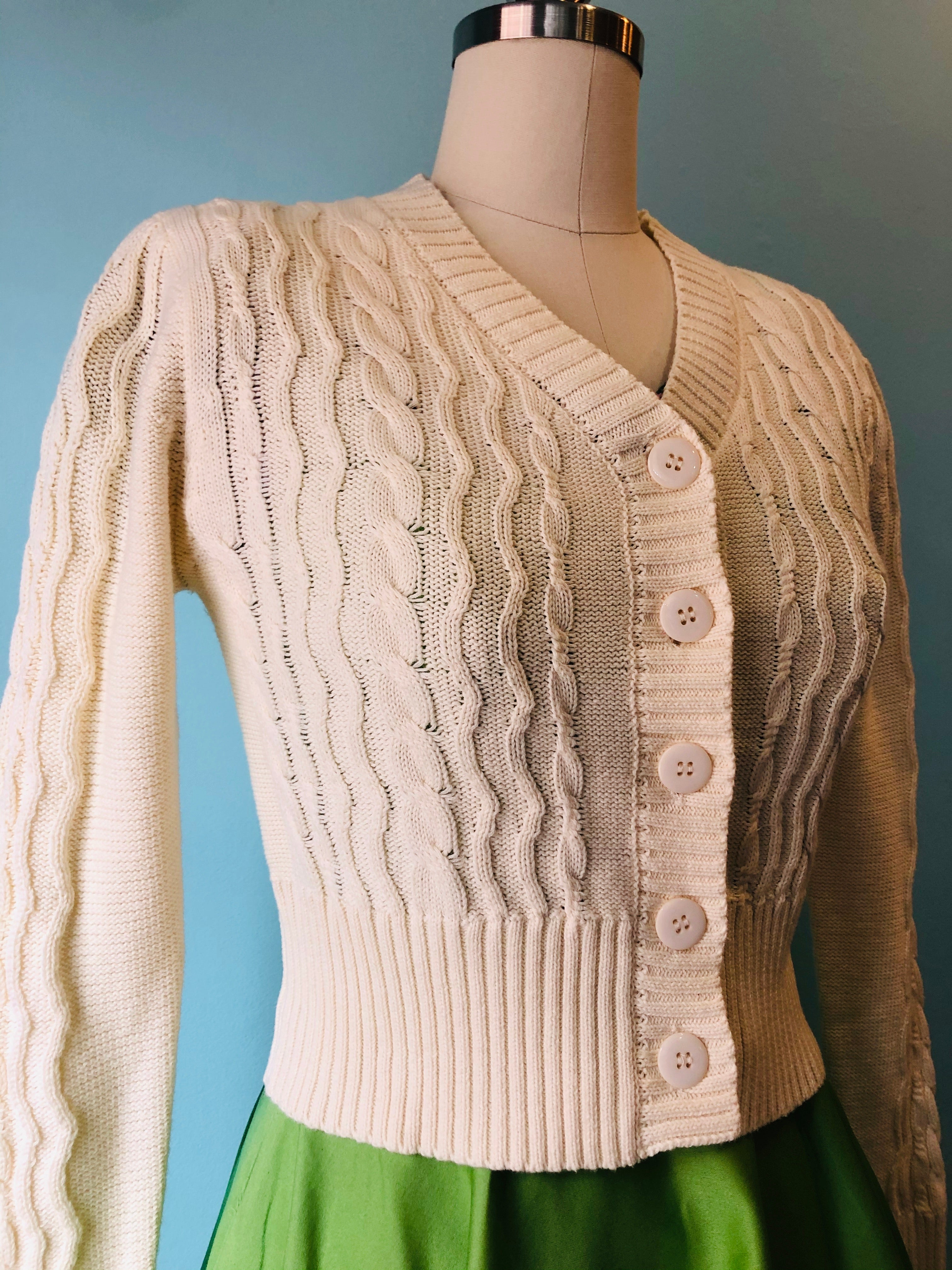 Camilla Fisherman's Sweater in Cream by Voodoo Vixen