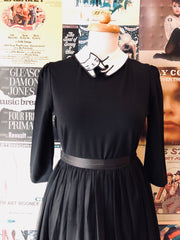 Fitted Top with Cat Collar in Black by Jawbreaker
