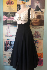 High Waisted Amma Suspender Swing Skirt by Unique Vintage
