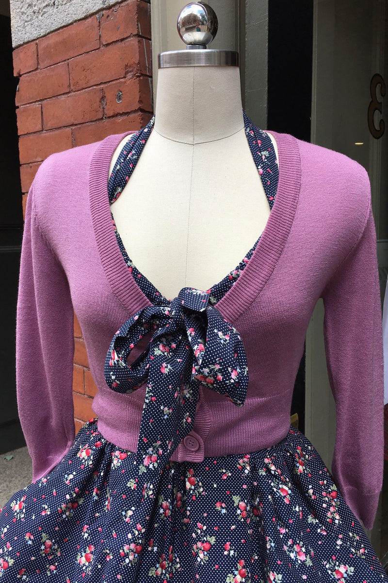 Mauve Orchid Perfect Cropped Cardi