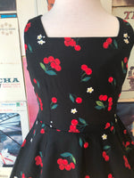Black Cherry Print Kids Dress by Hearts & Roses
