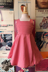 Red & White Gingham Girls Dress by Hearts & Roses