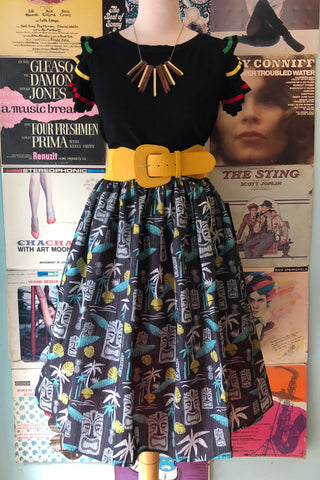 d665cd38e52a Tiki in Paradise Skirt in Black by Steady Clothing ...