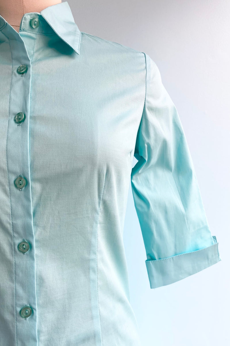 Quintessential Top in Turquoise by Oblong Box Shop