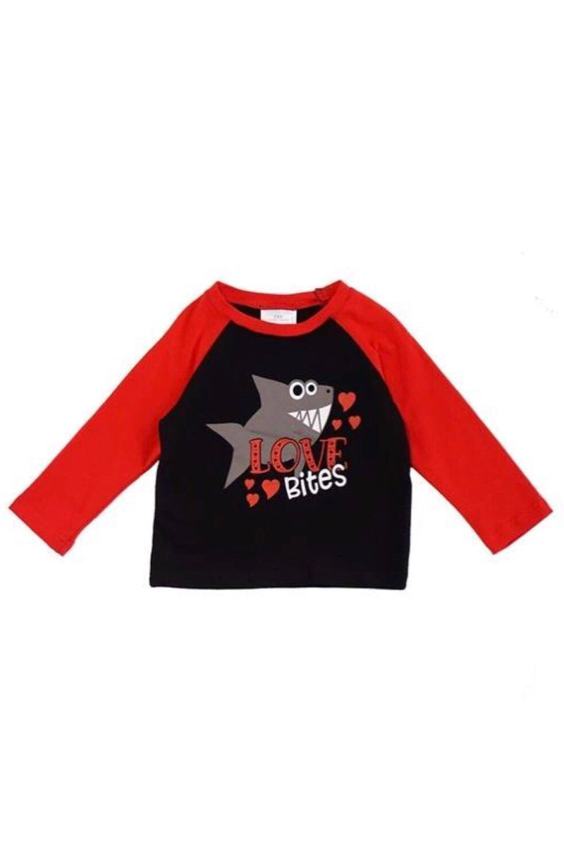 Love Bites Boys Raglan T-Shirt Top
