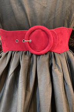Faux Suede Buckle Cinch Belt in Multiple Colors
