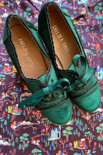 Green Velvet Madison Heels by Chelsea Crew