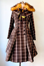 Brooklyn Plaid Coat by Hell Bunny