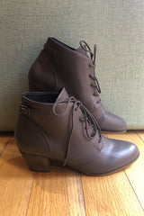 Grey Lace-Up Lord Bootie by Chelsea Crew