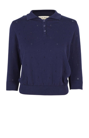 Navy Organic Cotton Spring Sweater by Palava