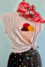 Ice Cream T-Shirt Top by Compania Fantastica