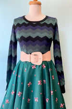 Machi Green Zig Zag Sweater by Collectif