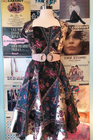 Cap Sleeve Dress in Vintage Prairie Floral by Eva Rose