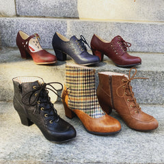 Tan Remington Houndstooth Bootie by B.A.I.T.