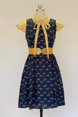 Sydney Dress in Navy Bikes by Mata Traders