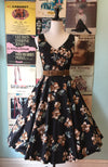 Brown Floral V-Neck Dress by Eva Rose