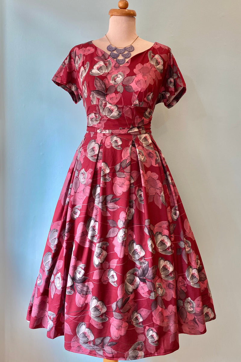 Felicienne-Ruby Floral Dress by Miss Candyfloss