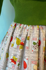 Trixie Skirt in Packets O' Plenty Print by Ains and Elke