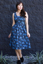 Blue and Black Scientific Dress by Retrolicious