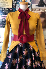 Mustard Serenity Cardigan Sweater by Collectif