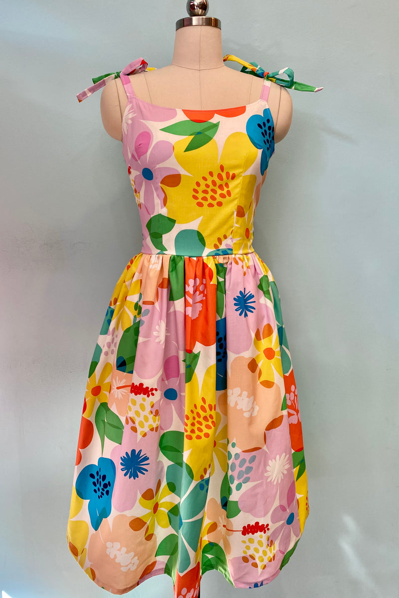 Jojo Dress in Mod Floral Frenzy by Ains and Elke