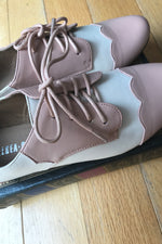 Holden Pink and White Oxford Shoes  by Chelsea Crew