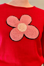 Flower Patch Red Sweater by Compania Fantastica